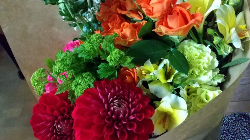 教室に飾ったお花ピアノ教室リエート